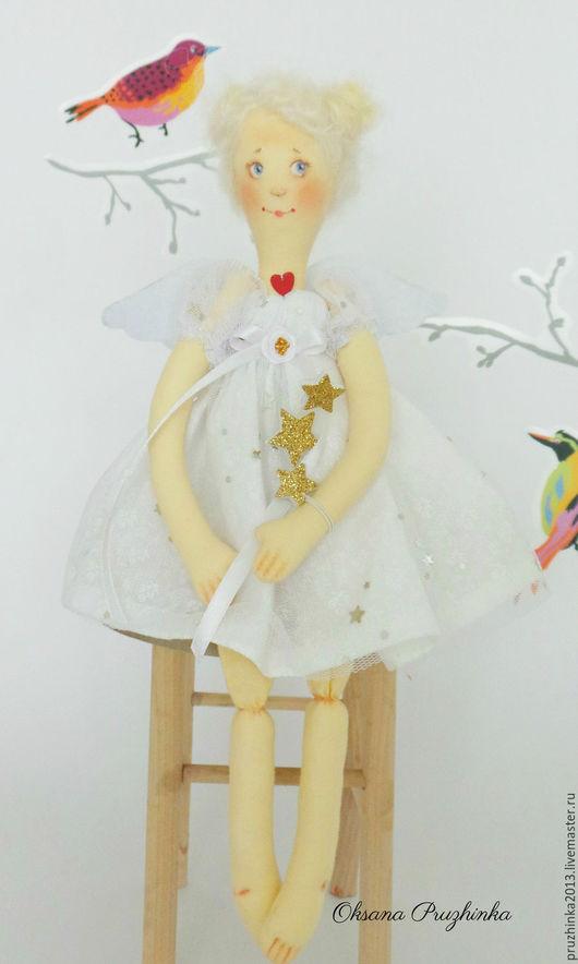 Коллекционные куклы ручной работы. Ярмарка Мастеров - ручная работа. Купить Тося. Звездный ангел. Handmade. Белый, ангел