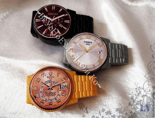 """Мыло ручной работы. Ярмарка Мастеров - ручная работа. Купить Мыло для рук """"Часы"""". Handmade. Часы, подарок на 23 февраля"""