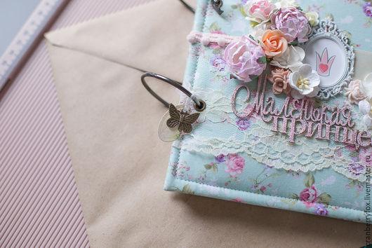 """Подарки для новорожденных, ручной работы. Ярмарка Мастеров - ручная работа. Купить Альбом ручной работы """"Нежность"""" для девочки. Handmade. Комбинированный"""