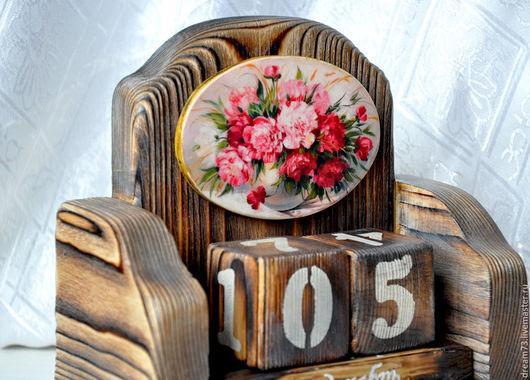 """Календари ручной работы. Ярмарка Мастеров - ручная работа. Купить Вечный календарь """"Пионовая нежность"""". Handmade. Комбинированный, настольный календарь"""