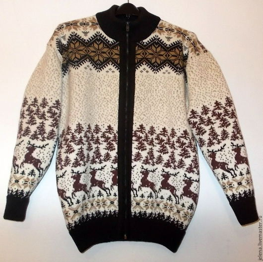 свитер вязаный на молнии