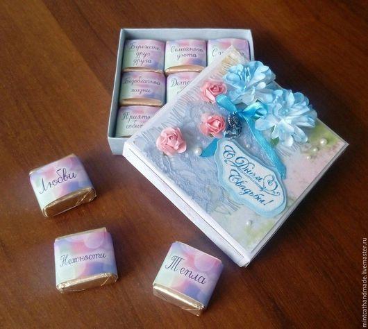 Подарки на свадьбу ручной работы. Ярмарка Мастеров - ручная работа. Купить Коробка шоколадных конфет. Handmade. Комбинированный, подарок на свадьбу