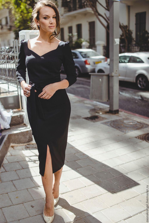 cc8a67e5c1a Платья ручной работы. Ярмарка Мастеров - ручная работа. Купить Черное платье -футляр.