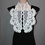handmade. Livemaster - original item Lace collar BOUQUET of CHRYSANTHEMUMS. Handmade.