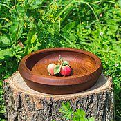 Для дома и интерьера handmade. Livemaster - original item A plate of Wood of Siberian pine 225#28. Handmade.