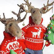 Куклы и игрушки handmade. Livemaster - original item Moose Christmas. Handmade.