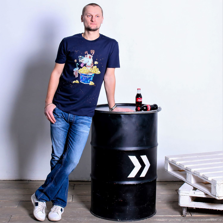 Мужская футболка с росписью Киноман, Футболки, Москва,  Фото №1