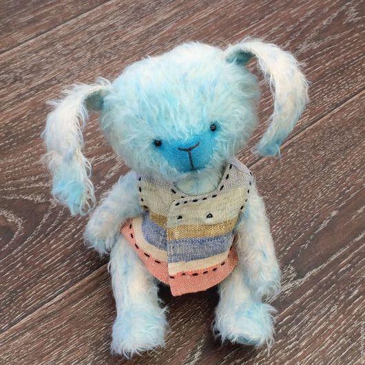 Мишки Тедди ручной работы. Ярмарка Мастеров - ручная работа. Купить Зайка Лола. Handmade. Голубой, зайка мама, bunny