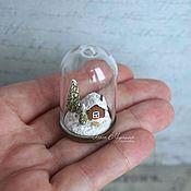 Куклы и игрушки ручной работы. Ярмарка Мастеров - ручная работа Домик в зимнем лесу. Handmade.
