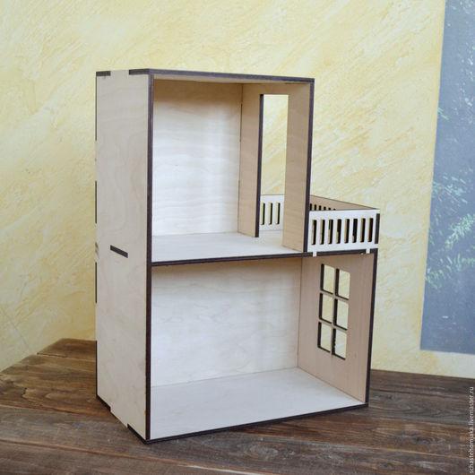 Кукольный дом ручной работы. Ярмарка Мастеров - ручная работа. Купить Домик кукольный 2 этажа. Румбокс. Handmade. Домик