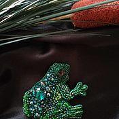 Украшения handmade. Livemaster - original item Brooch Frog. Handmade.