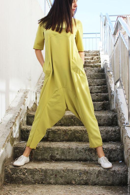 """Комбинезоны ручной работы. Ярмарка Мастеров - ручная работа. Купить Модный Комбинезон  """"Style - Yellow""""  J0011. Handmade. Желтый"""
