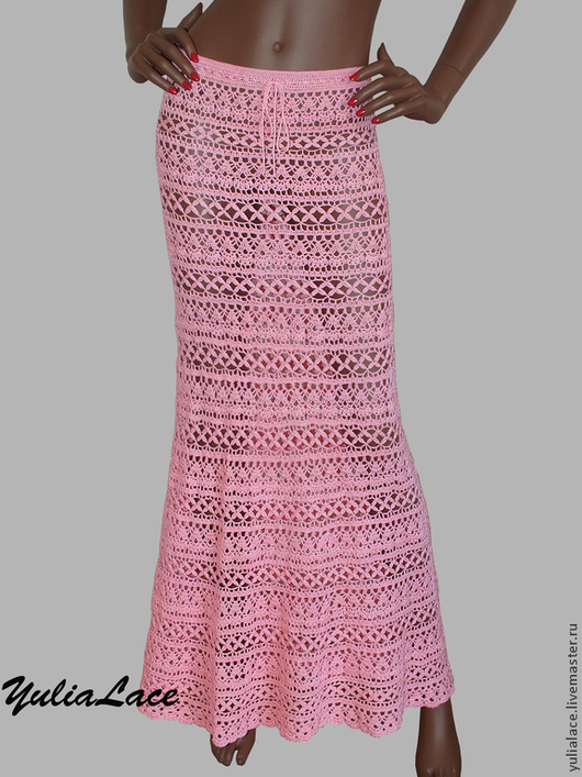 """Юбки ручной работы. Ярмарка Мастеров - ручная работа. Купить Вязаная юбка """"Нежно-розовая"""". Handmade. Бледно-розовый, crochet"""