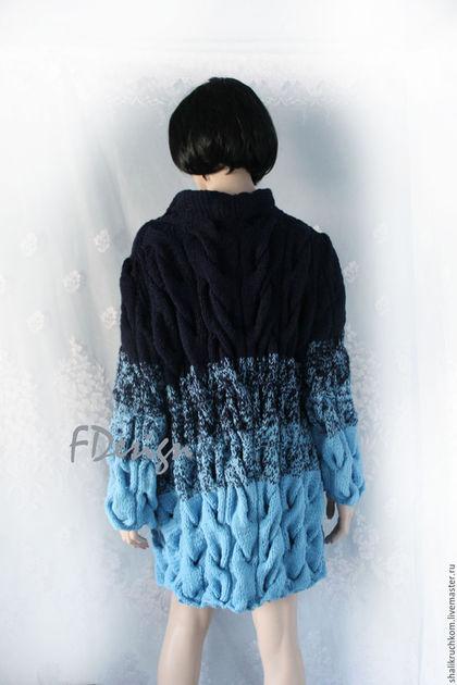 Кофты и свитера ручной работы. Заказать Вязаный кардиган шарпей ручной работы. Кардиганы FDesign, шали. Ярмарка Мастеров.