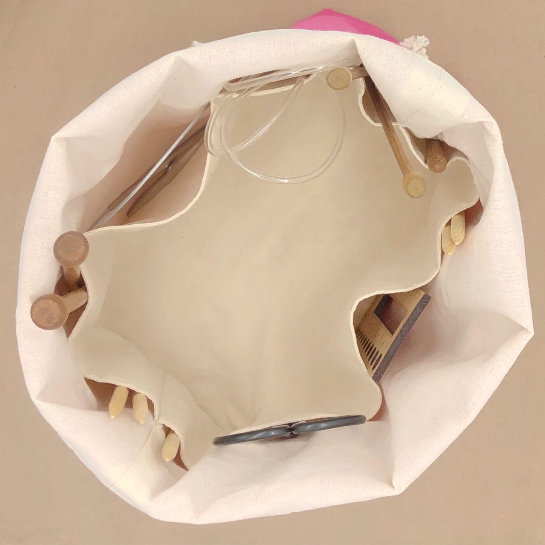 Сумка для вязания с внутренними карманами и двумя ручками Project bag, Органайзеры, Екатеринбург,  Фото №1