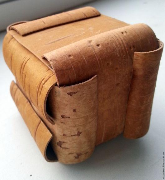 Эко-короб из бересты - заготовка для творчества. Может быть использован для оформления интерьера в стиле рустик.