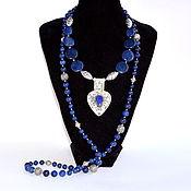 Украшения handmade. Livemaster - original item Blue lapis lazuli necklace SILVER Ethnic Boho style Author`s work. Handmade.