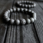 Украшения handmade. Livemaster - original item Bracelet from lava stone
