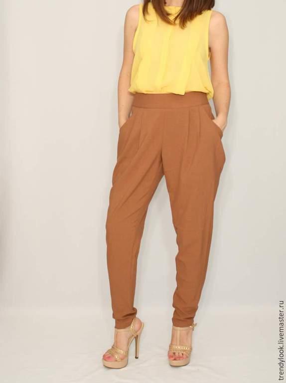 Женские брюки зауженные офисные купить