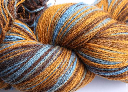 Вязание ручной работы. Ярмарка Мастеров - ручная работа. Купить Кауни пряжа Brown Blue 8/2. Handmade. Кауни