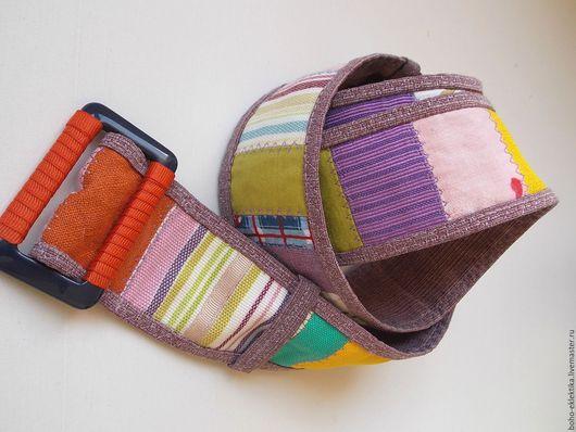 Пояса, ремни ручной работы. Ярмарка Мастеров - ручная работа. Купить Пояс ремень текстильный. Handmade. Комбинированный, винтажный стиль