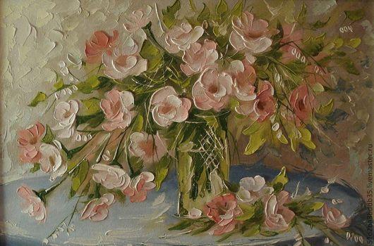 Картины цветов ручной работы. Ярмарка Мастеров - ручная работа. Купить Начало лета. Handmade. Розовый, картина, картина в подарок
