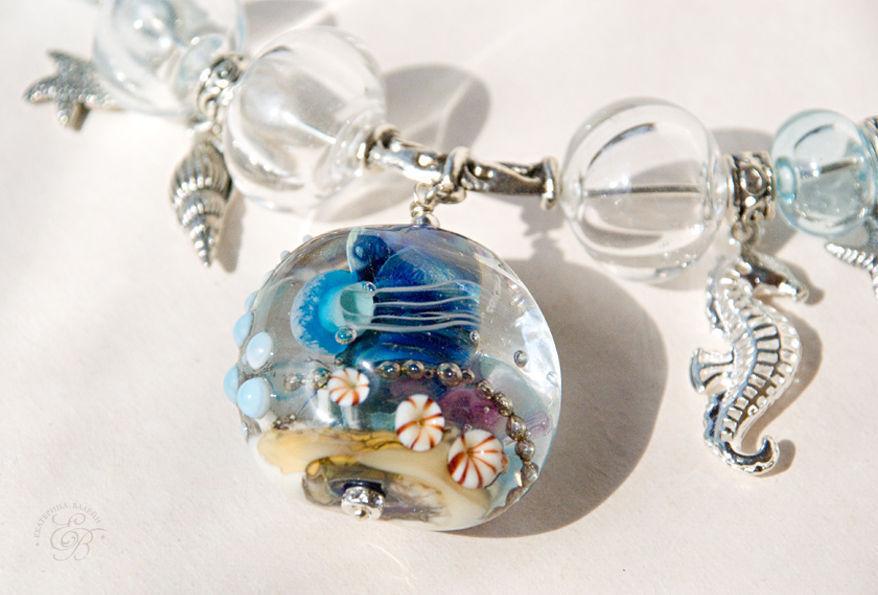 'Underwater world': necklace, Necklace, St. Petersburg,  Фото №1