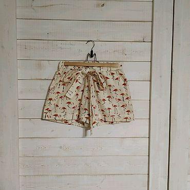 Одежда ручной работы. Ярмарка Мастеров - ручная работа Шорты женские летние с поясом. Handmade.