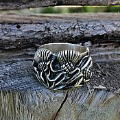 Украшения handmade. Livemaster - original item Ring Thistle silver 925. Handmade.