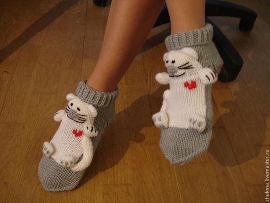 Носкотапки `Влюбленные коты` Желена