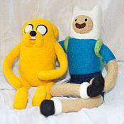 Куклы и игрушки ручной работы. Ярмарка Мастеров - ручная работа Игрушки Финн и Джейк (Время приключений) Finn & Jake (Adventure Time). Handmade.