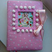 Блокноты ручной работы. Ярмарка Мастеров - ручная работа Дневничок для девочки. Handmade.