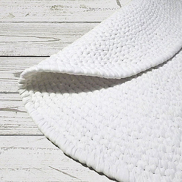 Для дома и интерьера ручной работы. Ярмарка Мастеров - ручная работа Белый ковер ручной работы. Handmade.