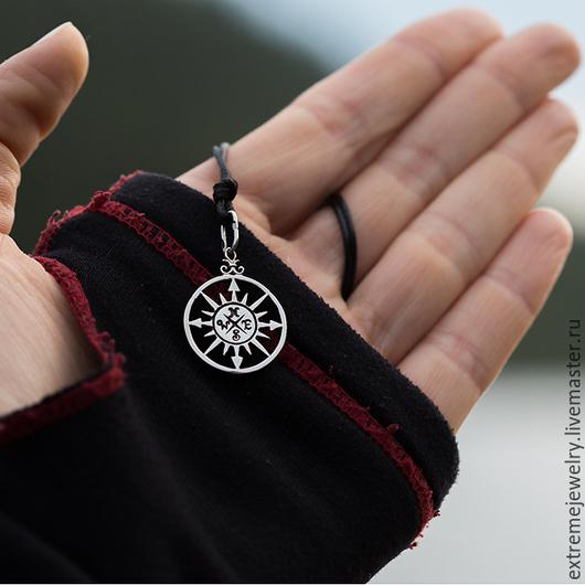 """Кулоны, подвески ручной работы. Ярмарка Мастеров - ручная работа. Купить Подвеска """"Роза ветров (компас)"""". Handmade. Белый, природа"""