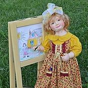 Куклы и игрушки ручной работы. Ярмарка Мастеров - ручная работа Кукла из пластика Маленькая художница.. Handmade.