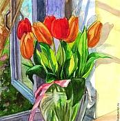 """Картины и панно ручной работы. Ярмарка Мастеров - ручная работа акварель """"Песнь весне"""". Handmade."""