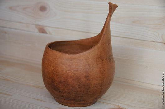 Вазы ручной работы. Ярмарка Мастеров - ручная работа. Купить ваза для фруктов. Handmade. Оранжевый, терракотовый, молочный обжиг