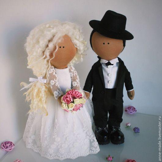 Человечки ручной работы. Ярмарка Мастеров - ручная работа. Купить Свадебные куклы (пара 4). Handmade. Свадебные куклы