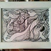 Картины и панно ручной работы. Ярмарка Мастеров - ручная работа Домик Тофслы и Вифслы. Handmade.