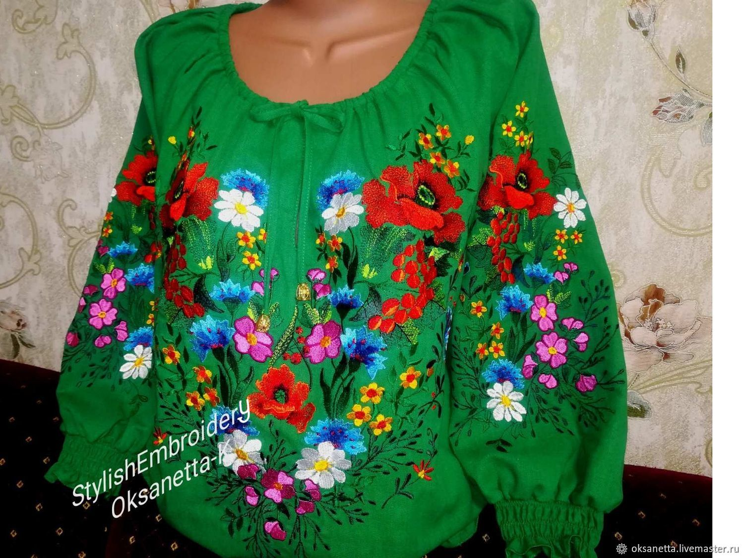 Women's embroidery ' Summer', Blouses, Zaporozhye,  Фото №1