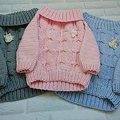 Джемперы ручной работы. Ярмарка Мастеров - ручная работа Вязаный свитер для девочки. Handmade.