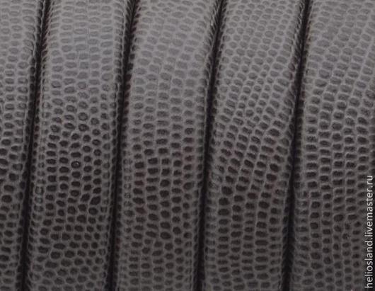 Для украшений ручной работы. Ярмарка Мастеров - ручная работа. Купить Кожаный шнур REGALIZ коричневый с принтом. Handmade. Регализ