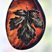 Украшения ручной работы. Ярмарка Мастеров - ручная работа Лист на агате. Handmade.