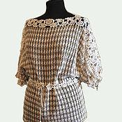 Одежда handmade. Livemaster - original item tunic: Crocheted tunic Prestige.. Handmade.