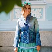 Одежда ручной работы. Ярмарка Мастеров - ручная работа Жакет женский из войлока Лазурный. Handmade.