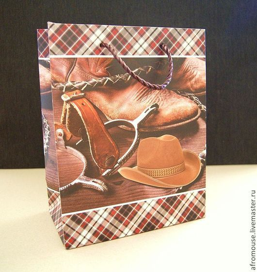 пакет упаковочный, подарочный мужской