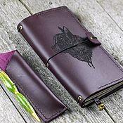 Канцелярские товары handmade. Livemaster - original item Set of leather notebook and pen in a handmade case. Handmade.