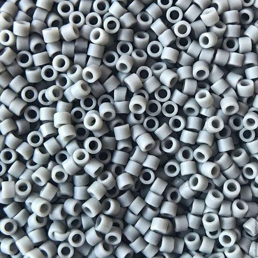 Для украшений ручной работы. Ярмарка Мастеров - ручная работа. Купить 10 ГР MIYUKI DELICA DB761  opaque matte steel grey. Handmade.