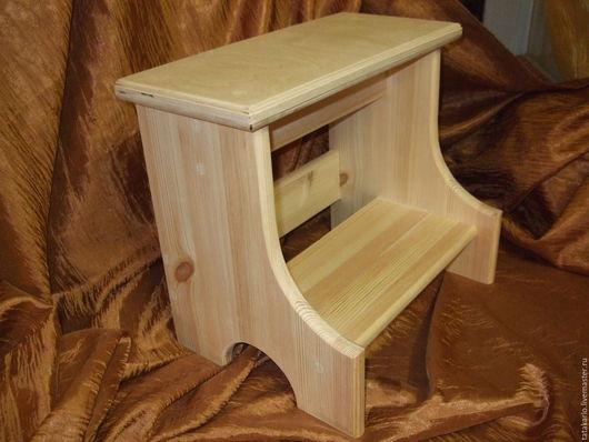 Мебель ручной работы. Ярмарка Мастеров - ручная работа. Купить Скамеечка - крепышка. Handmade. Бежевый, заготовка из дерева