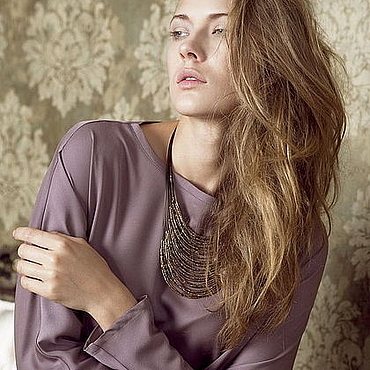 Одежда ручной работы. Ярмарка Мастеров - ручная работа Блуза Тия 1030901. Handmade.